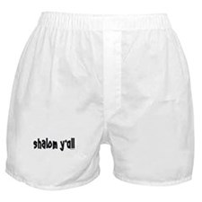 Shalom Y'All Jewish Boxer Shorts