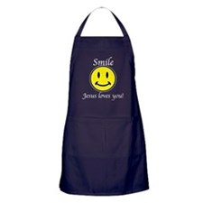 Smile Jesus Apron (dark)