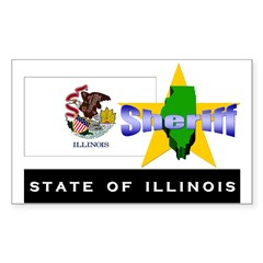 Illinois Sheriff Rectangle Sticker 10 pk)