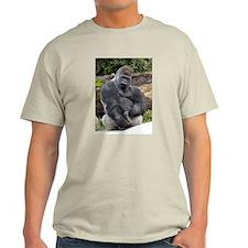 Gorilla Longer Version Ash Grey T-Shirt