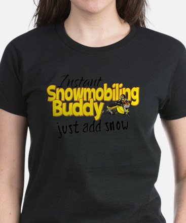 Instant Snowmobiling Buddy Tee