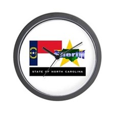 North Carolina Sheriff Wall Clock
