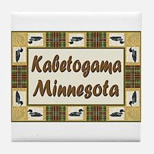 Kabetogama Loon Tile Coaster