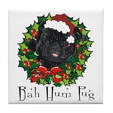 Bella Bah Hum Pug Tile Coaster