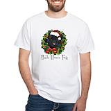Pug dog Mens White T-shirts