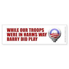 Barry Golf Tee Off - Bumper Bumper Sticker
