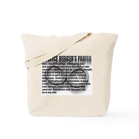 A POLICE OFFICER'S PRAYER Tote Bag