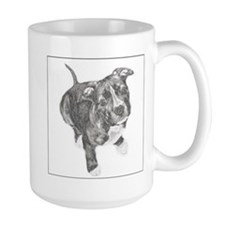Grey Tile Pitbull Mug
