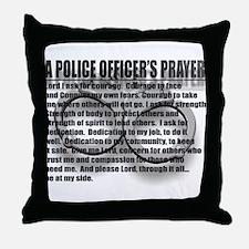 A POLICE OFFICER'S PRAYER Throw Pillow