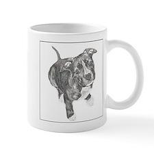 Grey Tile Pitbull Mug