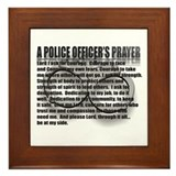 Police officers prayer Framed Tiles