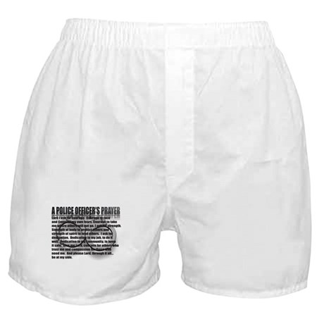 A POLICE OFFICER'S PRAYER Boxer Shorts