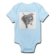 Grey Tile Pitbull Infant Creeper