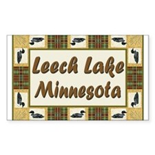 Leech Lake Loon Rectangle Decal
