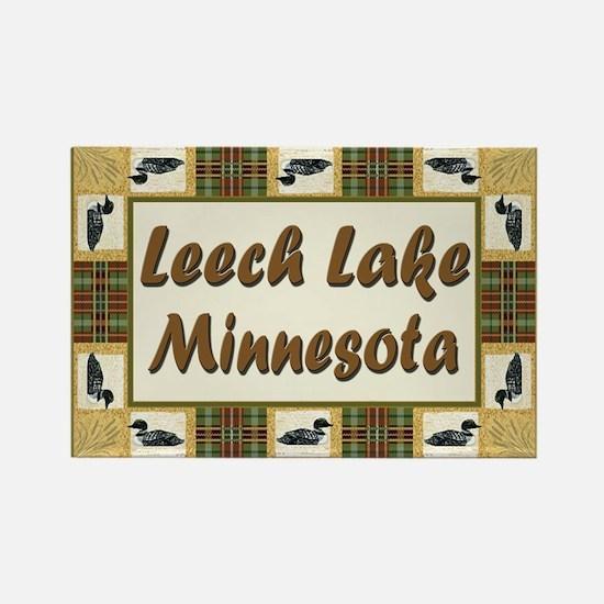 Leech Lake Loon Rectangle Magnet (100 pack)