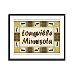 Longville Loon Framed Panel Print