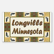 Longville Loon Rectangle Decal