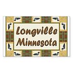 Longville Loon Rectangle Sticker 10 pk)