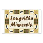 Longville Loon Rectangle Sticker 50 pk)