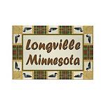 Longville Loon Rectangle Magnet (100 pack)