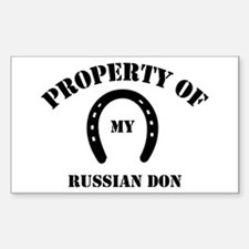My Russian Don Rectangle Decal