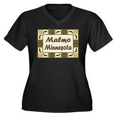 Malmo Loon Women's Plus Size V-Neck Dark T-Shirt