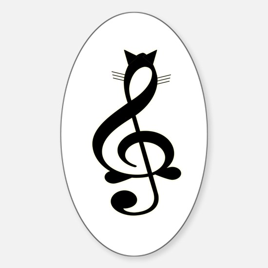 Jazz Cat Oval Decal