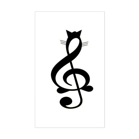 Jazz Cat Rectangle Sticker