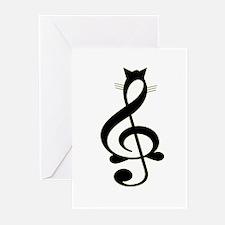 Jazz Cat Greeting Cards (Pk of 10)