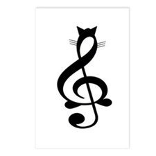 Jazz Cat Postcards (Package of 8)