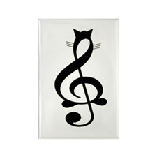 Jazz Cat Rectangle Magnet