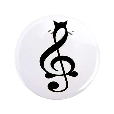 "Jazz Cat 3.5"" Button"