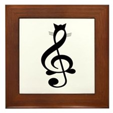 Jazz Cat Framed Tile