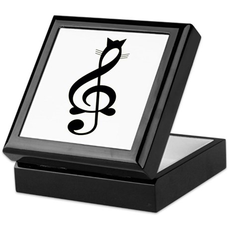 Jazz Cat Keepsake Box