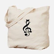 Jazz Cat Tote Bag
