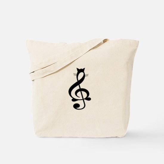 Jazz Cat Tote Bag