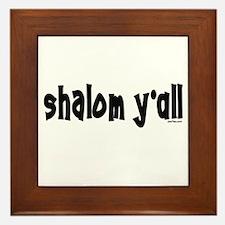 Shalom Y'All Jewish Framed Tile