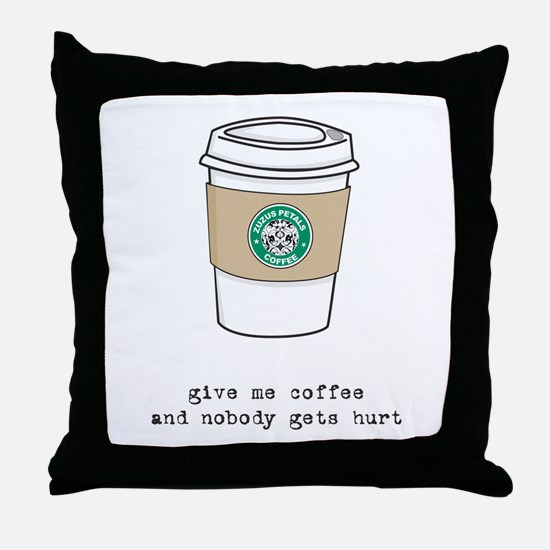 gimme coffee Throw Pillow