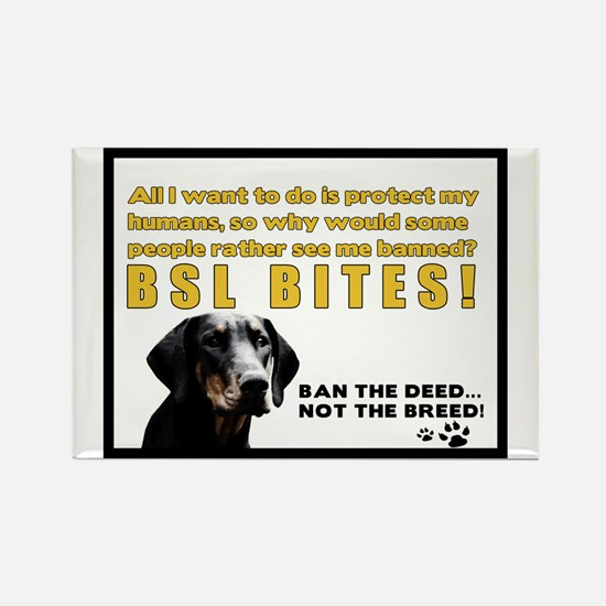 Funny Bsl Rectangle Magnet