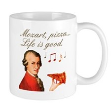 Mozart and Pizza: Music and food Mug