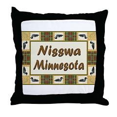 Nisswa Loon Throw Pillow