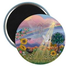Cloud Angel - With Us Always - round Magnets