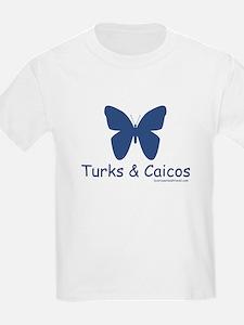 Turks & Caicos Butterfly - Kids T-Shirt