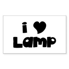I Love Lamp Rectangle Decal