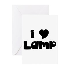 I Love Lamp Greeting Cards (Pk of 10)