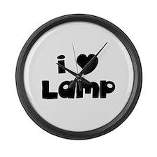 I Love Lamp Large Wall Clock