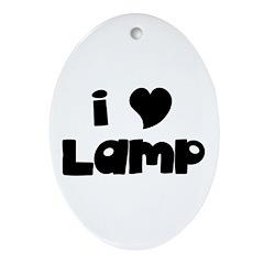 I Love Lamp Oval Ornament
