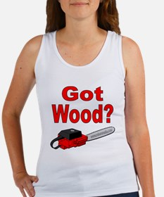 Got Wood? (red chainsaw) Women's Tank Top