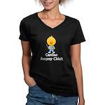 Cardiac Surgery Chick Women's V-Neck Dark T-Shirt