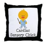 Cardiac Surgery Chick Throw Pillow